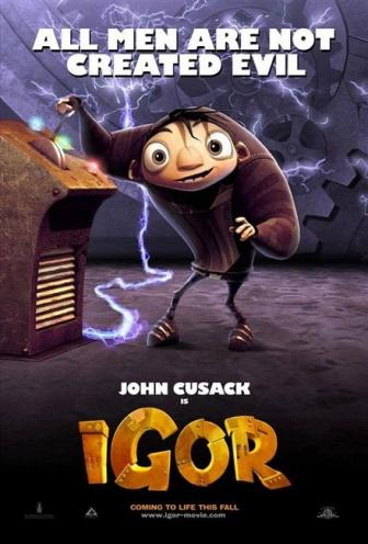 Igor Starring the voices of John Cusack, Steve Buscemi, John Cleese, Jennifer Coolidge, Arsenio Hall, Sean Hayes, Eddie Izzard, Jay Leno, Molly Shannon | Film Critic Michael Phillips Reviews Igor | Video