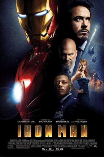 Key theatrical poster art for IRON MAN, opening this Friday. Photo courtesy of Paramount Pictures. � 2008 MVLFFLLC & Marvel Entertainment.
