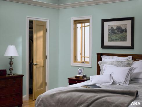 light green bedroom walls