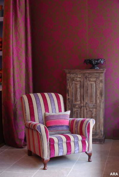 Hot Home Decorating and Color Trends - Pink has found new acceptance both in Paris fashion and in the home, where it boldly gives rooms an updated infusion of color. Photo courtesy of Anna French.