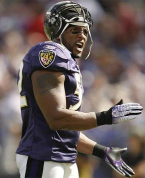NFL 2008 Playoffs Wild Card Weekend Ravens Linebacker Ray Lewis. The Ravens  travel to Miami f047fbd16