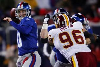 Eli Manning New York Giants Super Bowl XLII MVP NFL 2008 Giants Aim to Repeat After Super Season