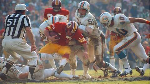 Super Bowl VII: Miami Dolphins 14 Washington Redskins 7 - MVP Dolphins Safety Jake Scott