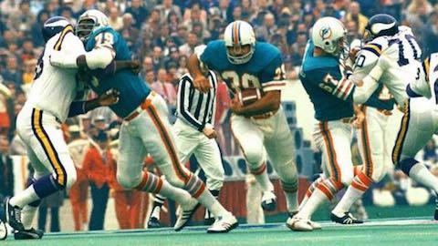 Super Bowl VIII: Miami Dolphins 24 Minnesota Vikings 7 - MVP Dolphins RB Larry Csonka