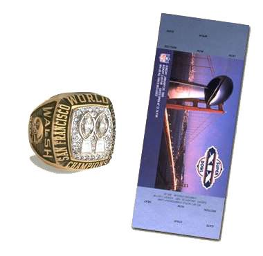 Super Bowl XIX Championship Ring and Game Ticket