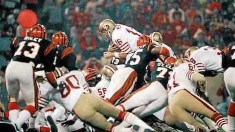 Super Bowl XVI: San Francisco 49ers 26 Cincinnati Bengals 21 - MVP 49ers QB Joe Montana