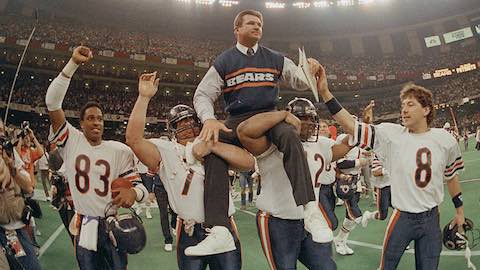 Super Bowl XX - Chicago Bears 46 New England Patriots 10 - MVP Bears DE Richard Dent
