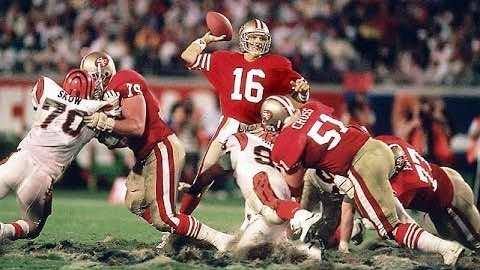 Super Bowl XXIII - San Francisco 49ers 20 Cincinnati Bengals 16 - MVP 49ers WR Jerry Rice