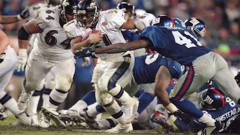Super Bowl XXXV - Baltimore Ravens 34 New York Giants 7 - MVP Ravens LB Ray Lewis