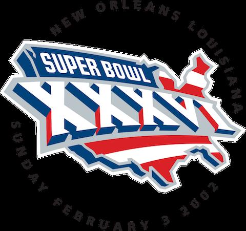 Super Bowl XXXVI - New England Patriots 20 Saint Louis Rams 17 - MVP Patriots QB Tom Brady