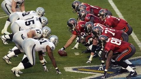 Super Bowl XXXVII - Tampa Bay Buccaneers 48 Oakland Raiders 21 - MVP Buccaneers Safety Dexter Jackson