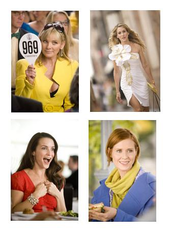Sarah Jessica Parker, Kim Cattrall, Kristin Davis, Cynthia Nixon in the movie Sex and the City: The Movie