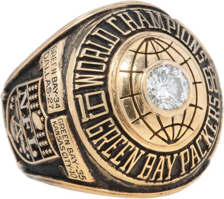 super bowl I Championship Ring and Game Ticket Super Bowl I: Green Bay Packers 35 Kansas City Chiefs 10   MVP Bart Starr, QB, Green Bay Packers