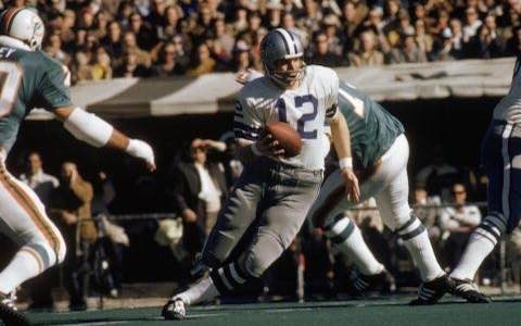Super Bowl VI: Dallas Cowboys 24 Miami Dolphins 3 MVP Roger Staubach QB Dallas Cowboys