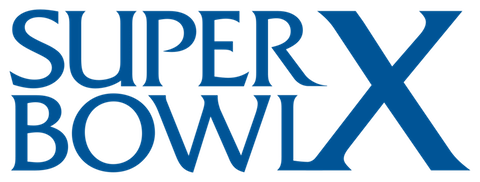 Super Bowl X: Pittsburgh Steelers 21 Dallas Cowboys 17 - MVP Steelers WR Lynn Swann