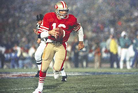 Super Bowl XIX: San Francisco 49ers  38  Miami Dolphins  16  | MVP Joe Montana, QB, San Francisco 49ers