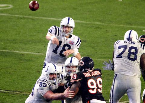 Super Bowl XLI MVP Peyton Manning Indianapolis Colts 29 Chicago Bears 17