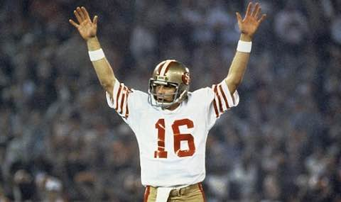 Super Bowl XVI: San Francisco 49ers  26  Cincinnati Bengals  21  | MVP Joe Montana, QB, San Francisco 49ers
