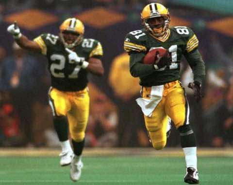 Super Bowl XXXI: Green Bay Packers  35  New England Patriots  21  | MVP Desmond Howard, KR-PR, Green Bay Packers