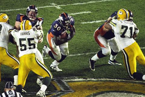 Super Bowl XXXII: Denver Broncos 31 Green Bay Packers  24  | MVP Terrell Davis, RB, Denver Broncos