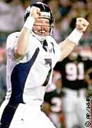 Super Bowl XXXIII: Denver Broncos  34  Atlanta Falcons  19  | MVP John Elway, QB, Denver Broncos