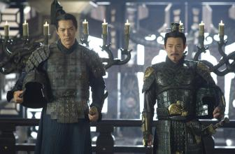 The Mummy: Tomb of the Dragon Emperor (L to R) Warrior Ming Guo (RUSSELL WONG) and the vicious Emperor (JET LI) in an all-new adventure that races from the catacombs of ancient China high into the spectacular Himalayas: The Mummy: Tomb of the Dragon Emperor. Photo Credit: Jasin Boland