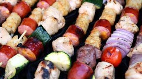 Chicken Kabobs with Lemon & Thyme   Recipe