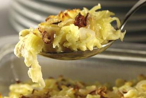 Wolfgang Puck Authentic Austrian Pasta - Spaetzle With Gruyere and Caramelized Onions Recipe