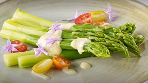 Asparagus with Orange Mustard Sauce Recipe Wolfgang Puck Recipe