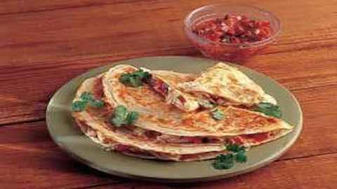 Three-Cheese Quesadillas   Recipe