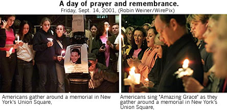 A Day of Prayer and Remembrance 9/14/2001